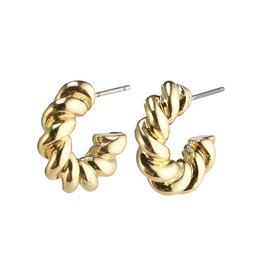 Pilgrim Earrings Gabrina Hoops, Gold Plated