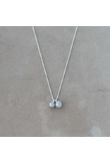 Glee jewelry Friendship Necklace, Silver/Grey Pearl