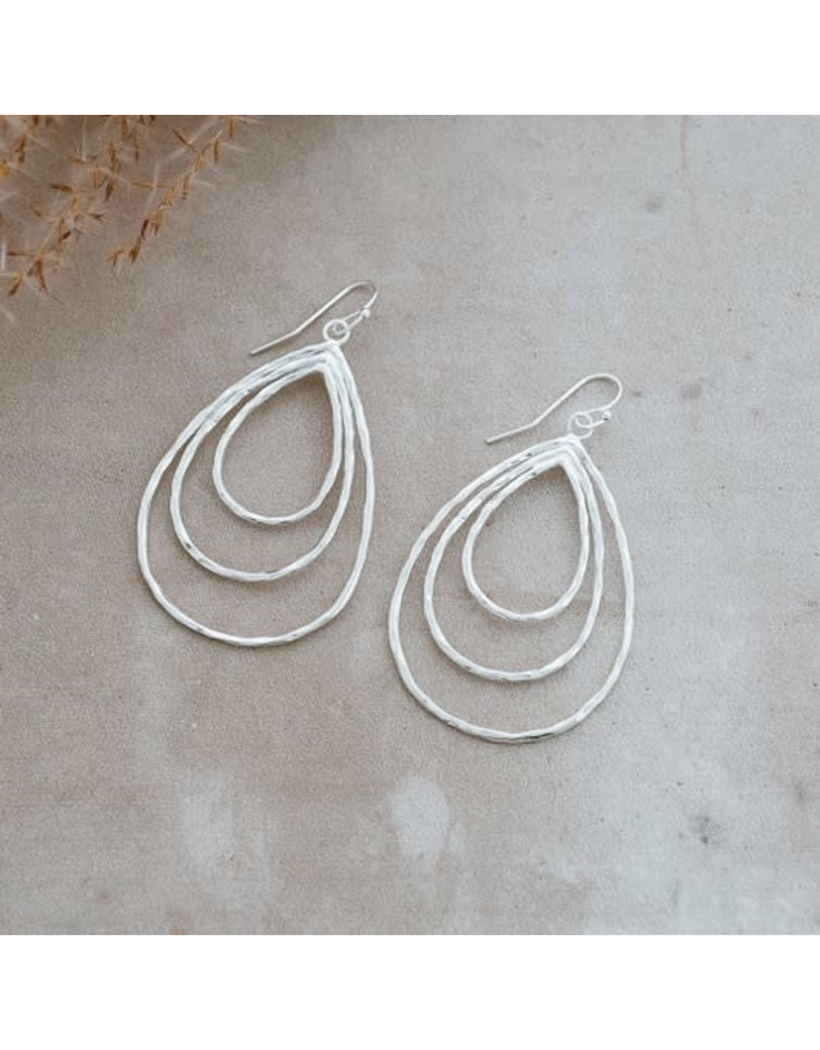 Glee jewelry Divergence Earrings, Silver