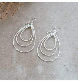 Glee jewelry Divergence Earrings, Silver