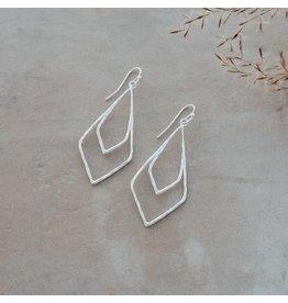 Glee jewelry Jude Earrings, Silver