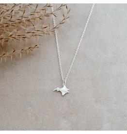 Glee jewelry Manta Necklace, Silver