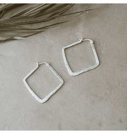 Glee jewelry Phoebe Hoops, Silver