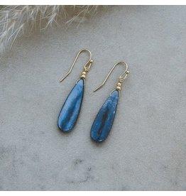 Glee jewelry Ruth, Earrings, Silver/Kyanite