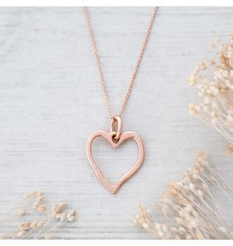 Glee jewelry Truly Necklace, Rose Gold