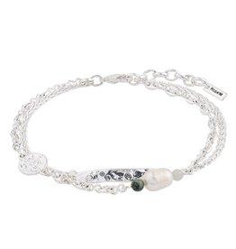 Pilgrim Bracelet Poesy, Freshwater Pearl, Silver Plated