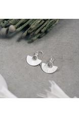 Glee jewelry Fringe Earrings, Silver