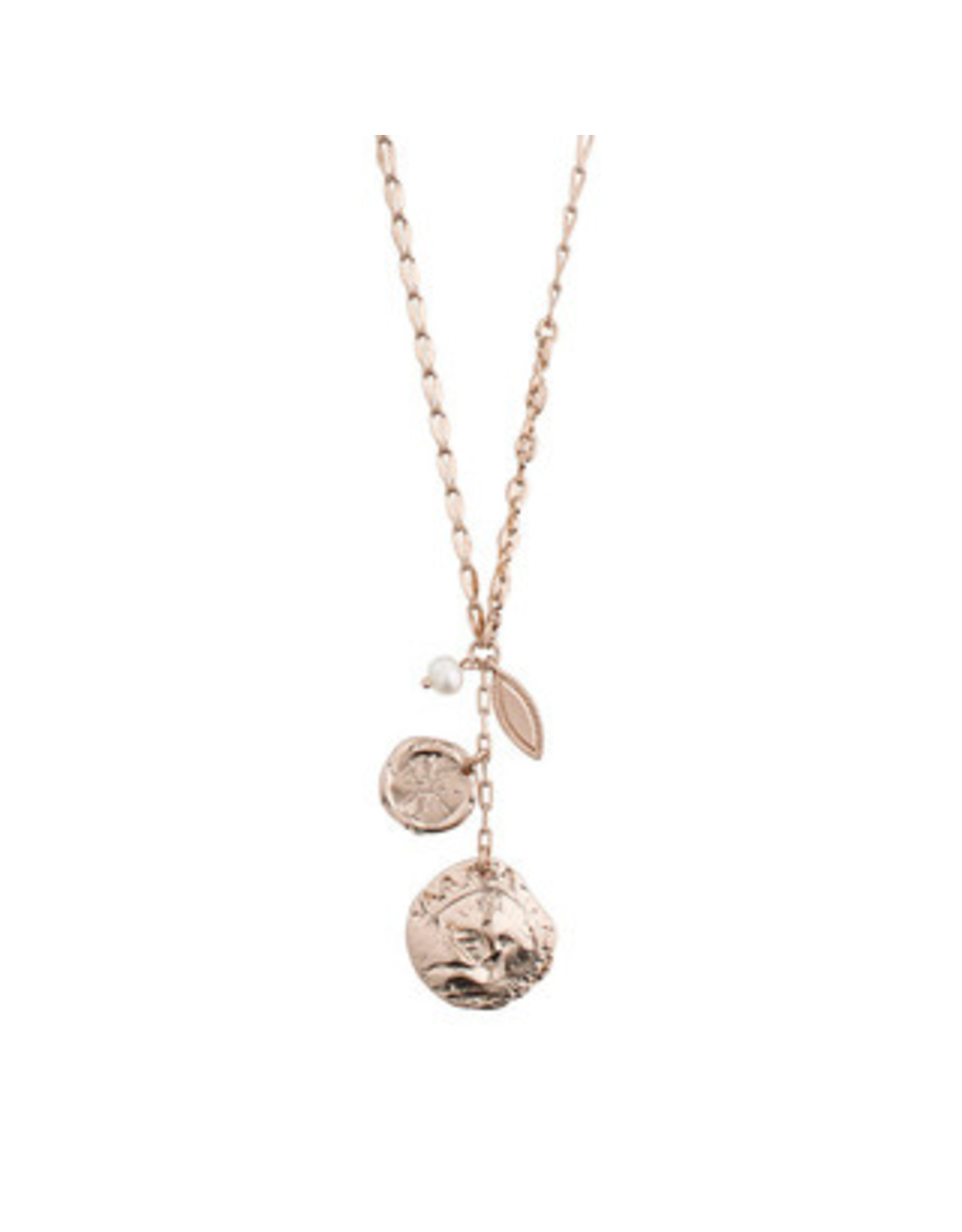 Pilgrim Necklace Poesy, Freshwater Pearl, Rose Gold Plated