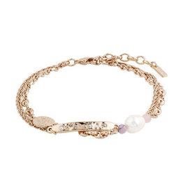 Pilgrim Bracelet Poesy, Freshwater Pearl, Rose Gold Plated