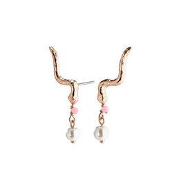 Pilgrim Earrings Poesy, Ear Crawler, Rose Gold Plated