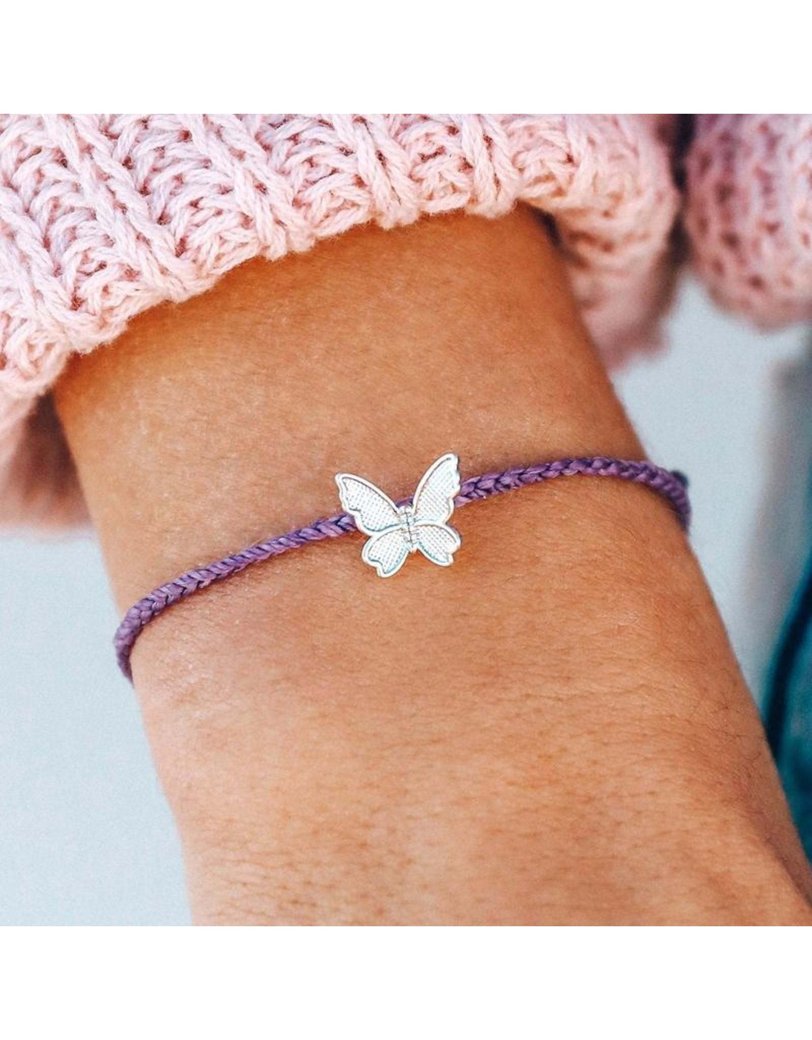 Pura Vida Butterfly In Flight, Light Purple