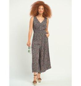 Smocked Waist Printed Jumpsuit, Sleeveless, Prairie Floral