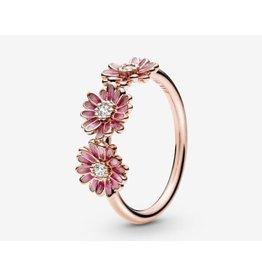 Pandora Pandora Ring, 188792C01, Pink Flower Trio