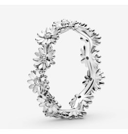 Pandora Pandora Ring, (198799C01) Sparkling Daisy Flower Crown
