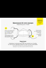 Augustine & CO Masque De Protection, Floraison Ébene-3 Épaisseurs