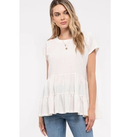 Blu Pepper Tiered Short Sleeve Top