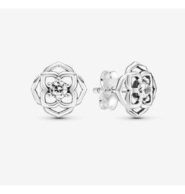 Pandora Pandora Earrings,299371C01, Rose Petals Stud, Clear CZ