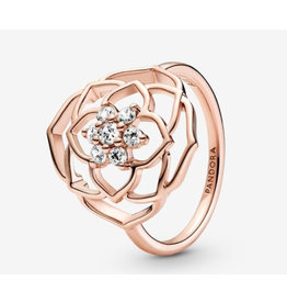Pandora Pandora ring,189412C01, Rose Petals Statement, Clear CZ, Rose Gold
