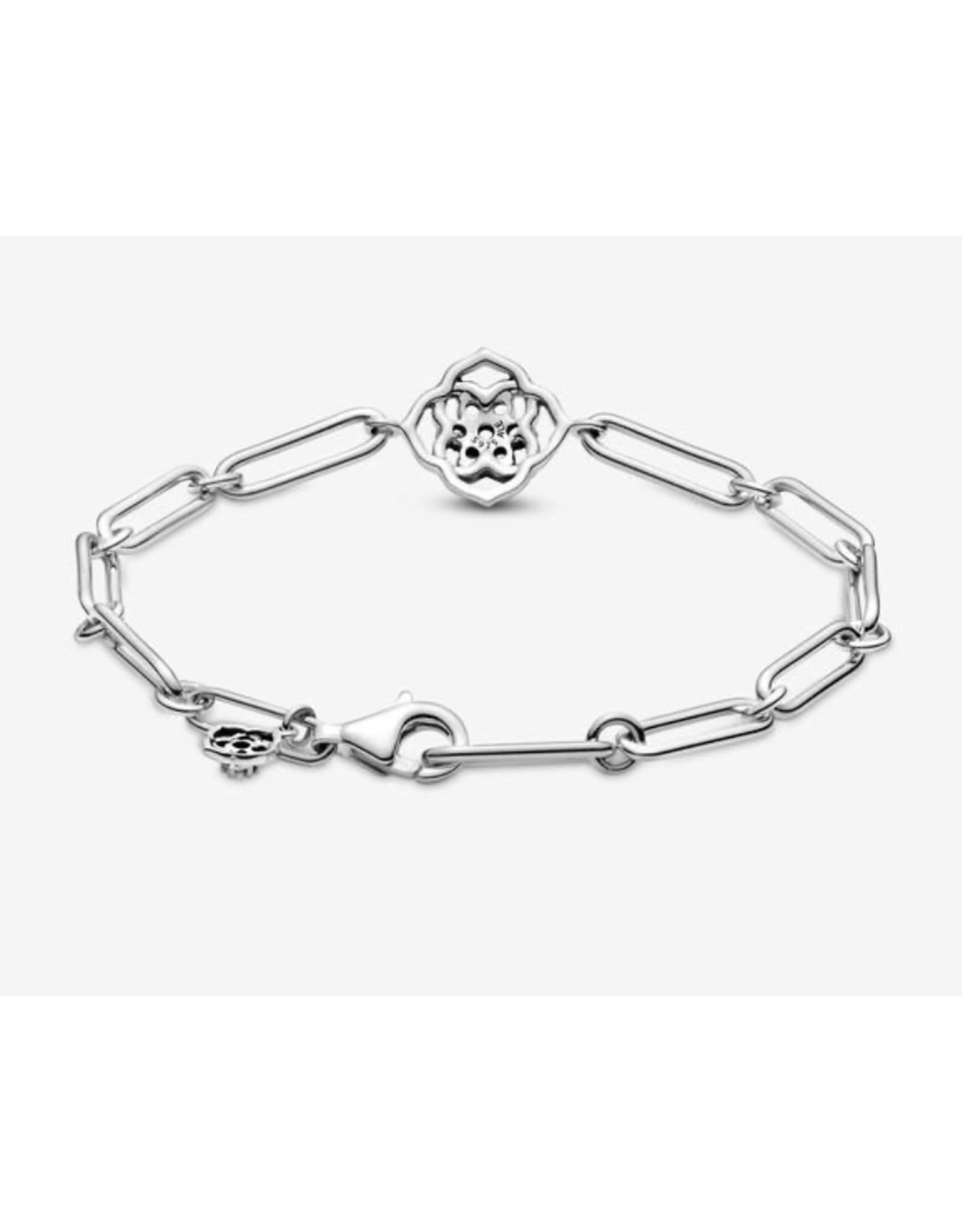 Pandora Pandora Bracelet, 599409C01, Rose Petals Link Bracelet, Clear CZ