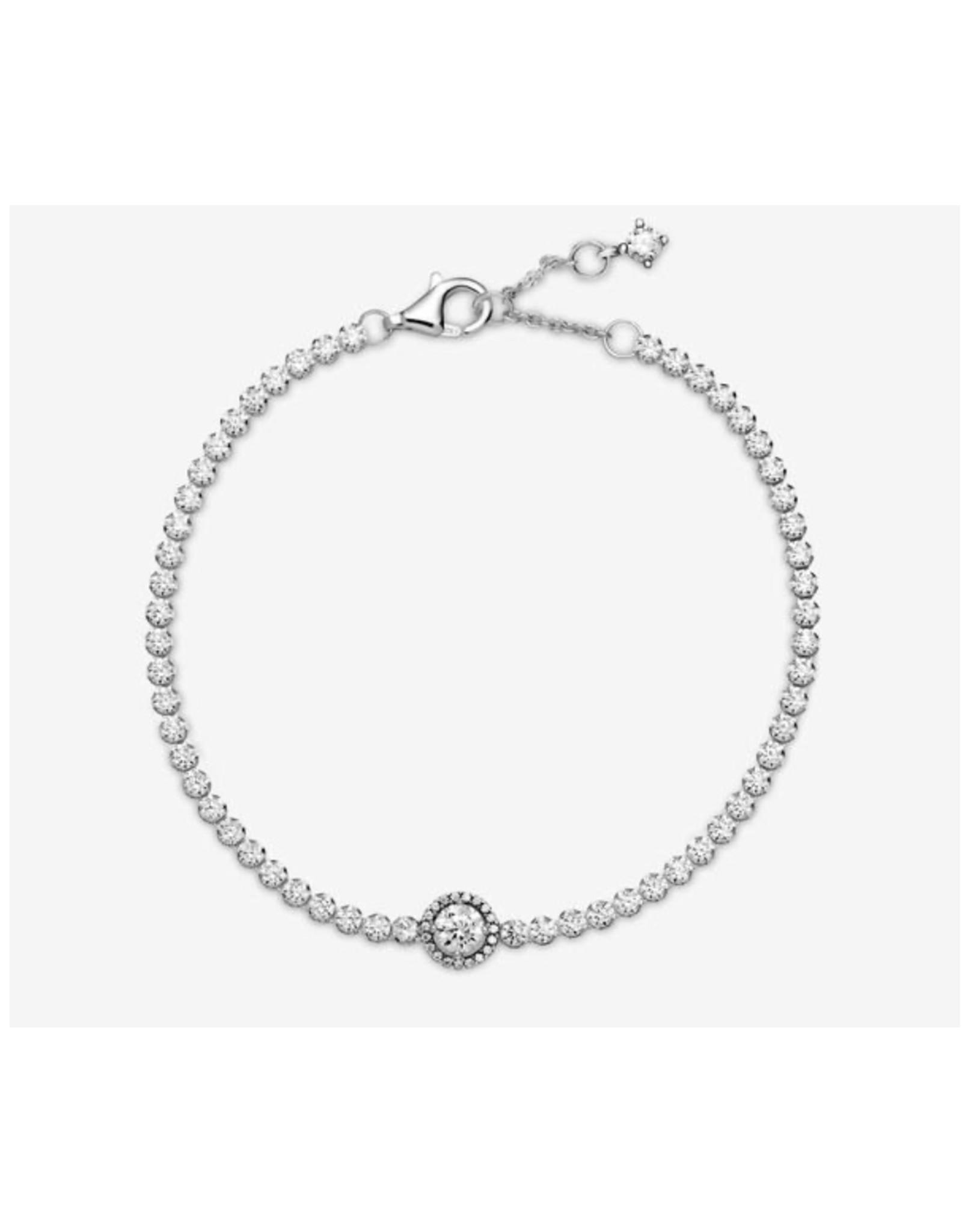 Pandora Pandora Bracelet,599416C01, Sparkling Halo Tennis Bracelet, Clear CZ