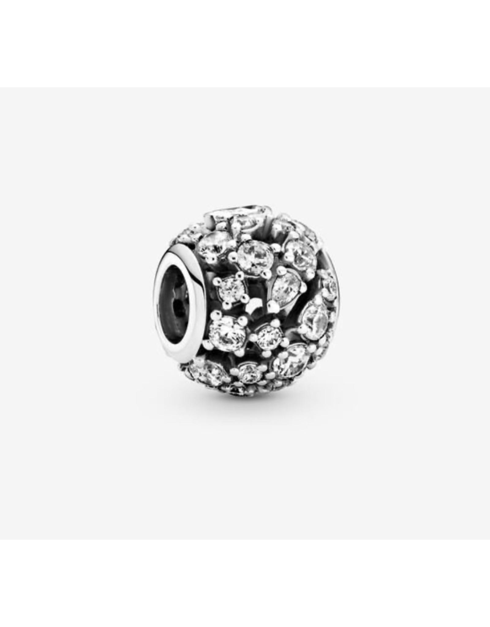 Pandora Pandora Charm,799225C01, Sparkling Round Openwork, Clear CZ