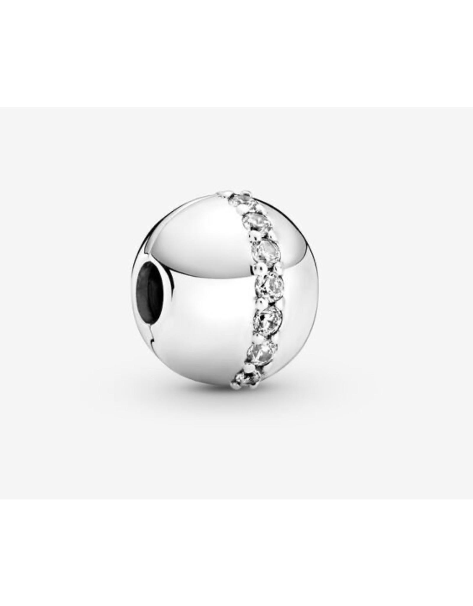 Pandora Pandora Charm,799403C01, Sparkling Line Clip, Clear CZ