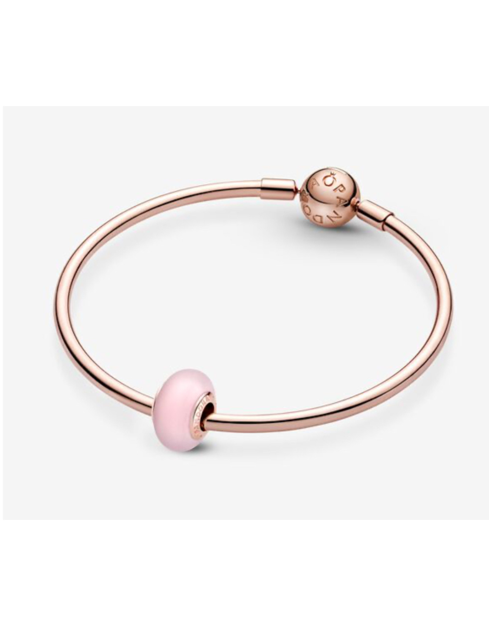 Pandora Pandora Charm,789421C00, Matte Pink Murano Glass, Rose Gold