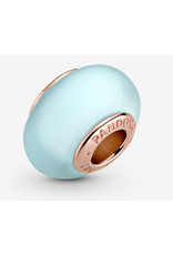 Pandora Pandora Charm,789420C00, Matte Blue Murano Glass, Rose Gold