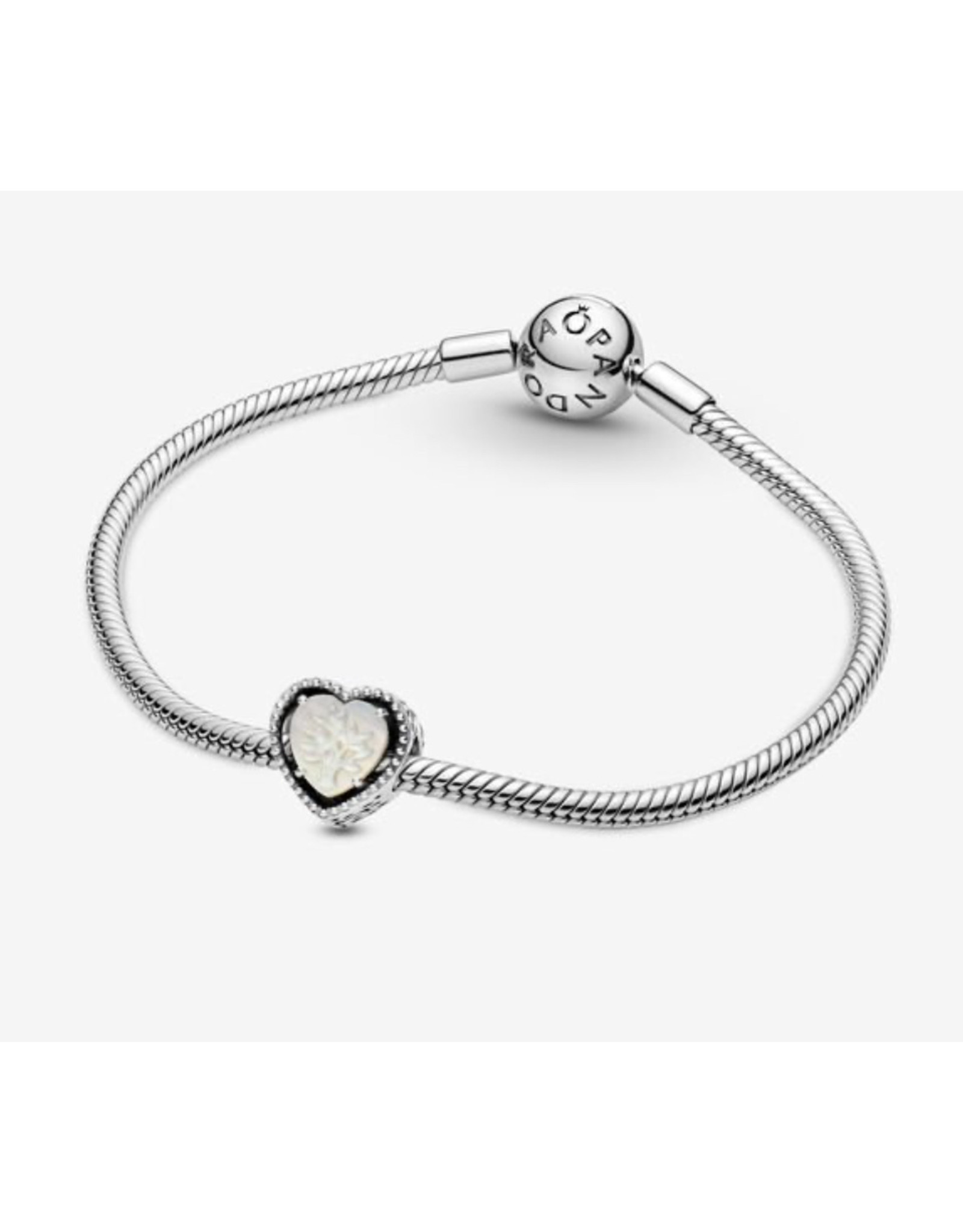 Pandora Pandora Charm,799413C01, Openwork Heart&Family Tree, Mother Of Pearl Stone