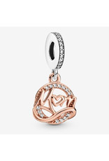 Pandora Pandora Charm,789374C01, Two-tone Mom Dangle, With Rose Gold