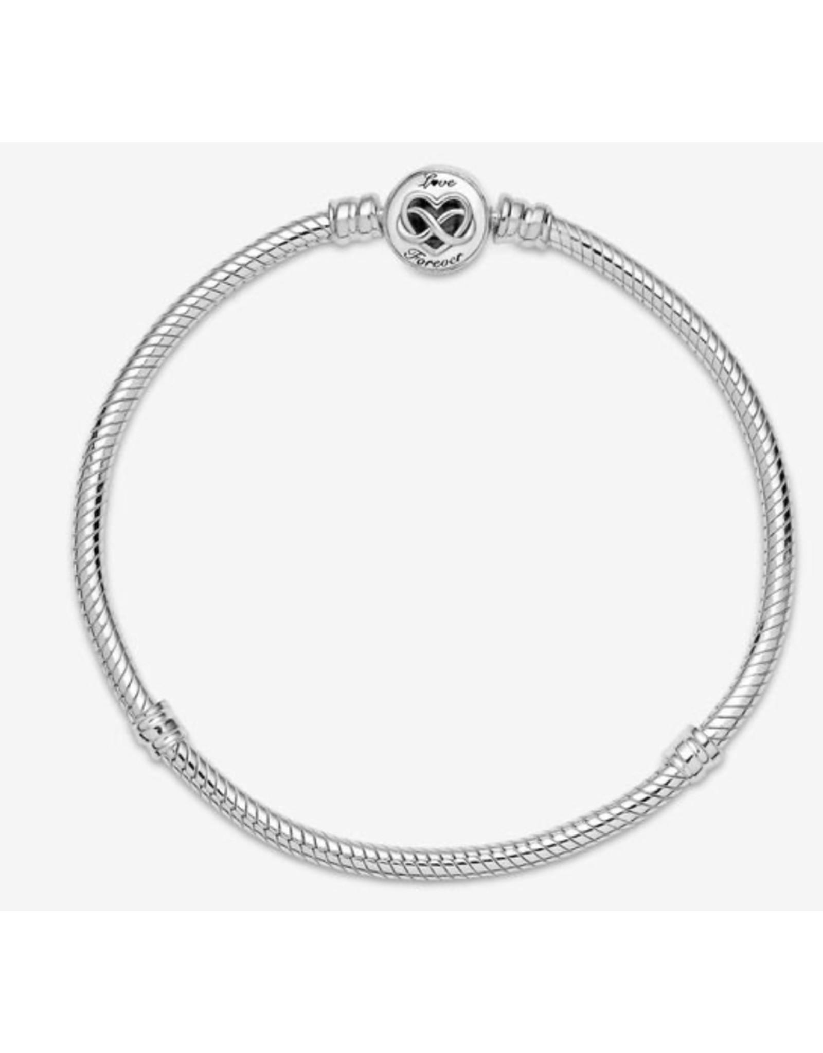 Pandora Pandora Bracelet,599365C00, Heart Infinity Clasp Snake Chain