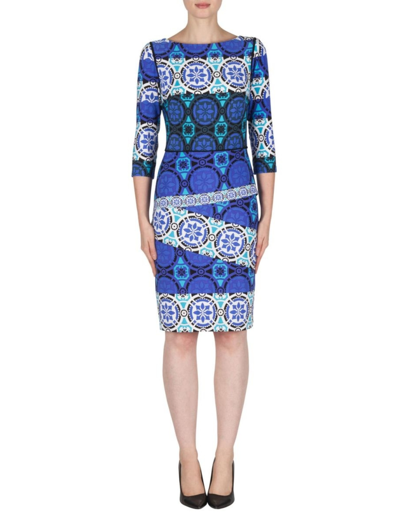 Joseph Ribkoff Joseph Ribkoff Blue/Multi Dress Size 10