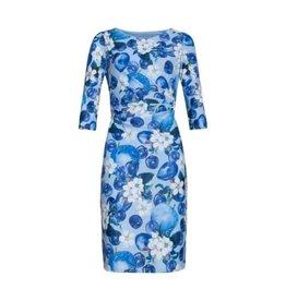 Smashed Lemon Smashed Lemon Blue Dress with Long Sleeves