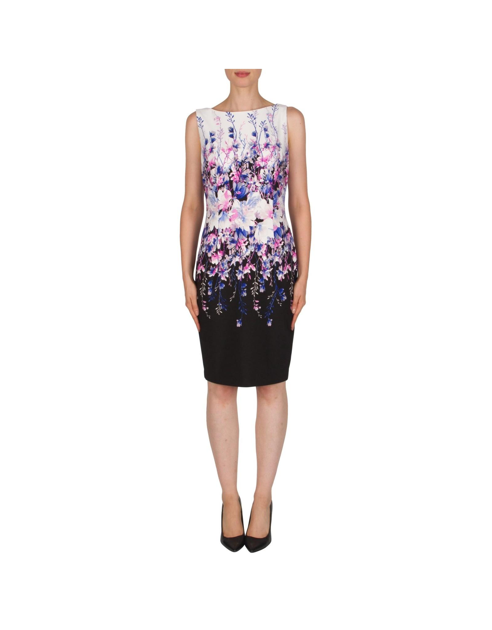 Joseph Ribkoff Joseph Ribkoff Blue/Pink Floral Dress Size 6