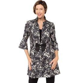 Joseph Ribkoff Joseph Ribkoff Floral Beige/Grey Coat Size 10