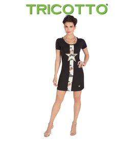 Tricotto Black Dress Star