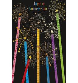 Editor Gifts & Cards Carte de Souhaits, Joyeux Anniversaire- Chandelles