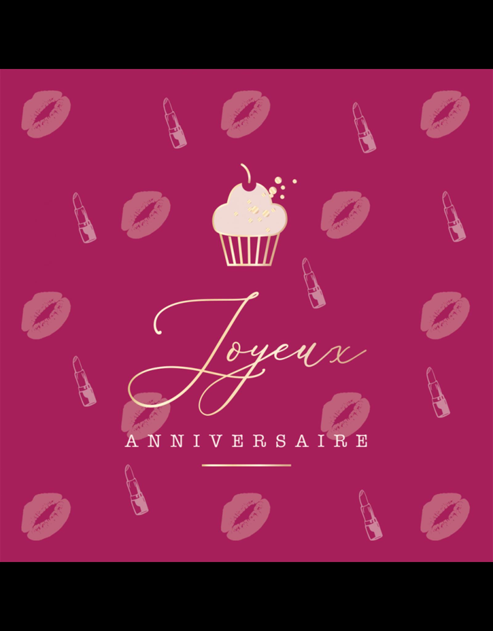 Quadrart Carte De Souhaits, Rose-Levres/Cupcake