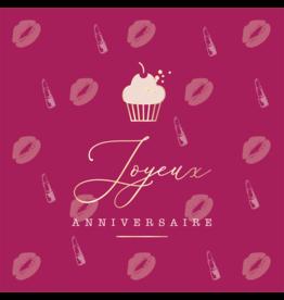 Carte De Souhaits, Rose-Levres/Cupcake