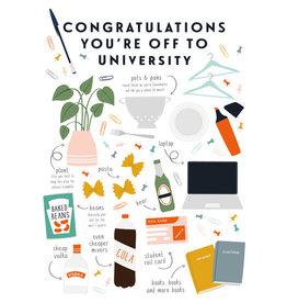 The Art File Carte De Souhaits, Congratulations You're Off To University