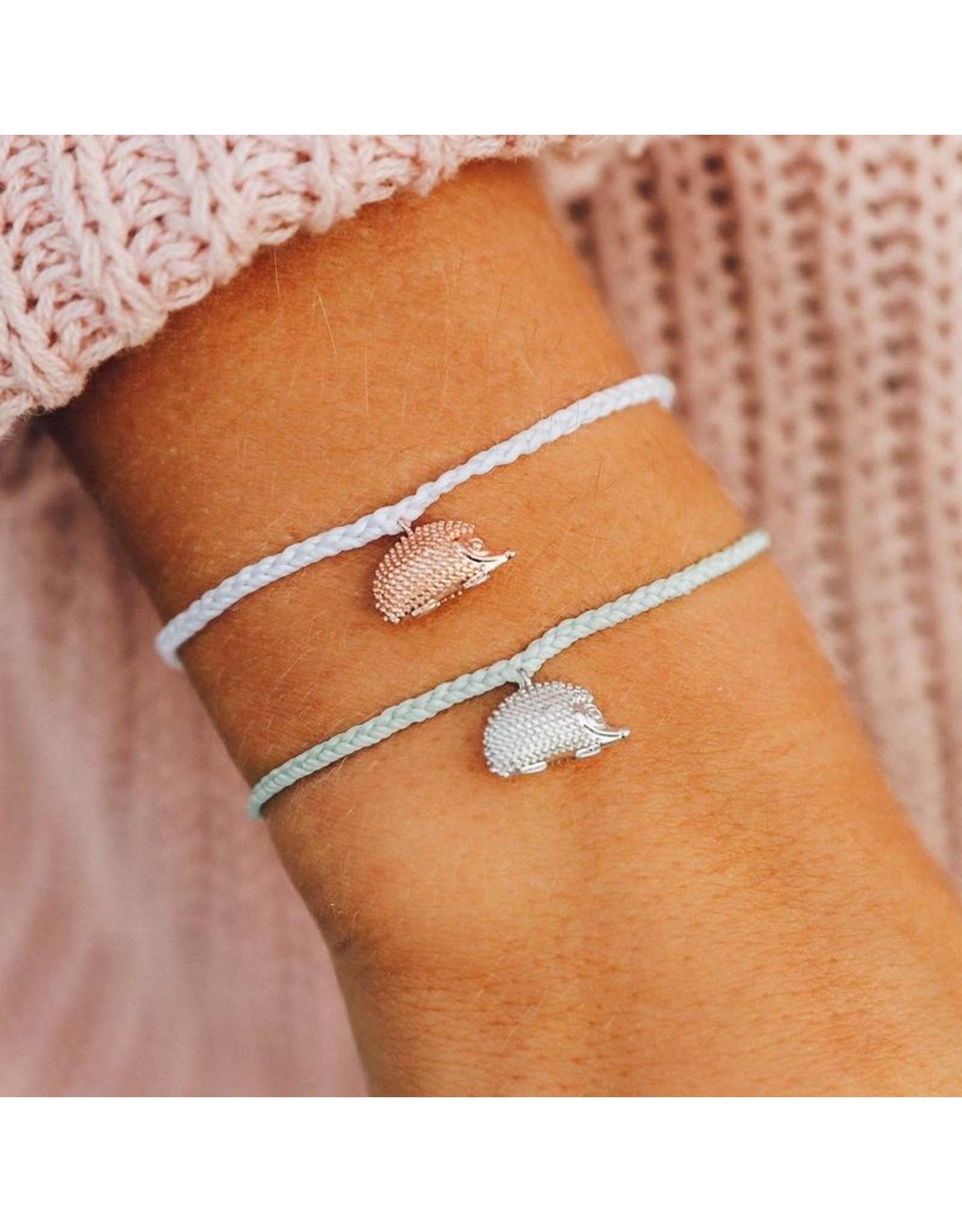 Pura Vida Hedgehog Bracelet, White