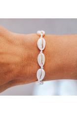 Pura Vida Knotted Cowries Bracelet, White