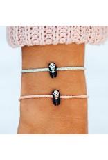 Pura Vida Panda Silver Bracelet, Winter Fresh