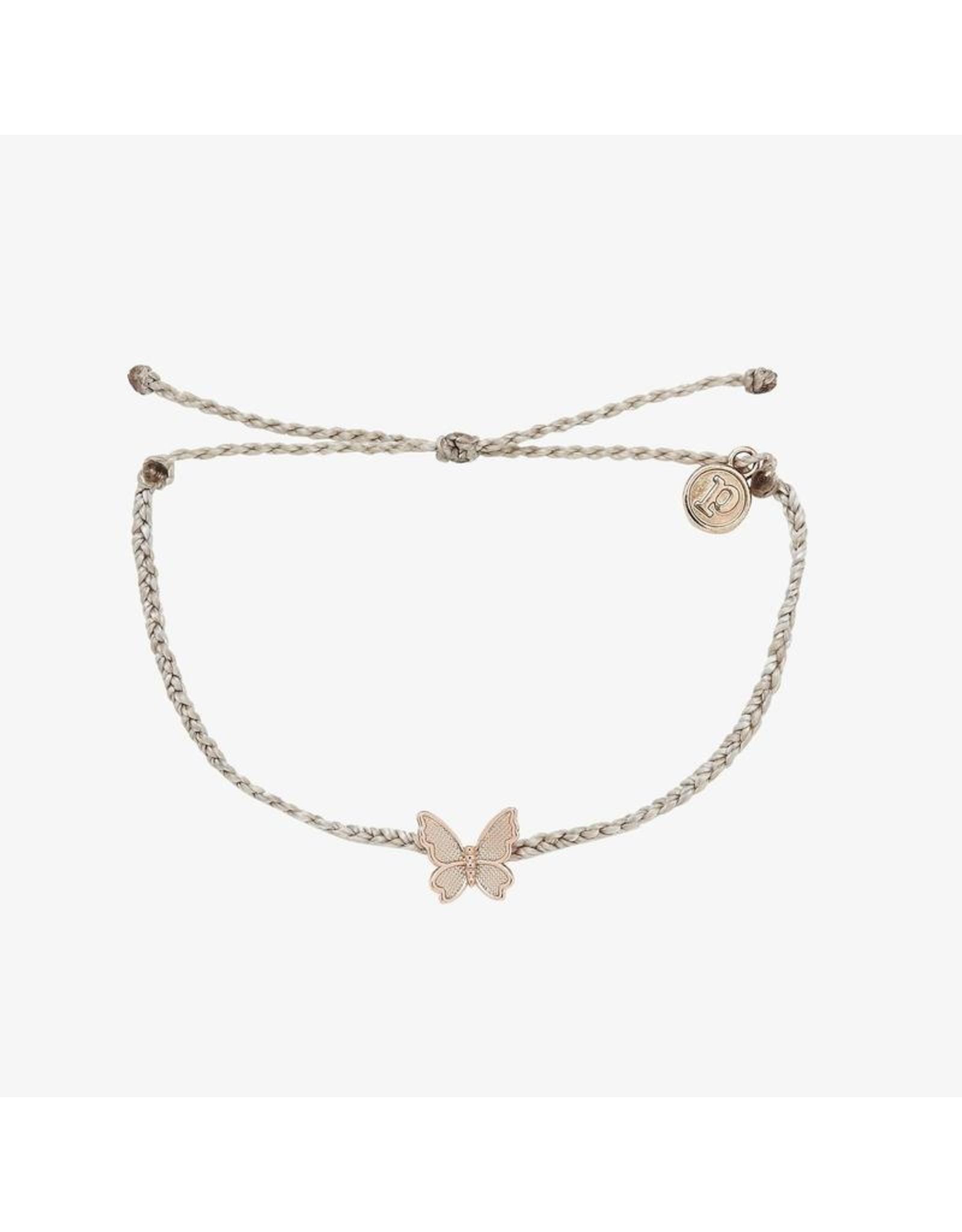 Pura Vida Butterfly In Flight Bracelet, Light Grey