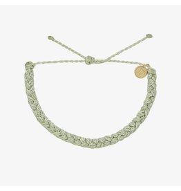 Pura Vida Solid Braided Bracelet, Mint