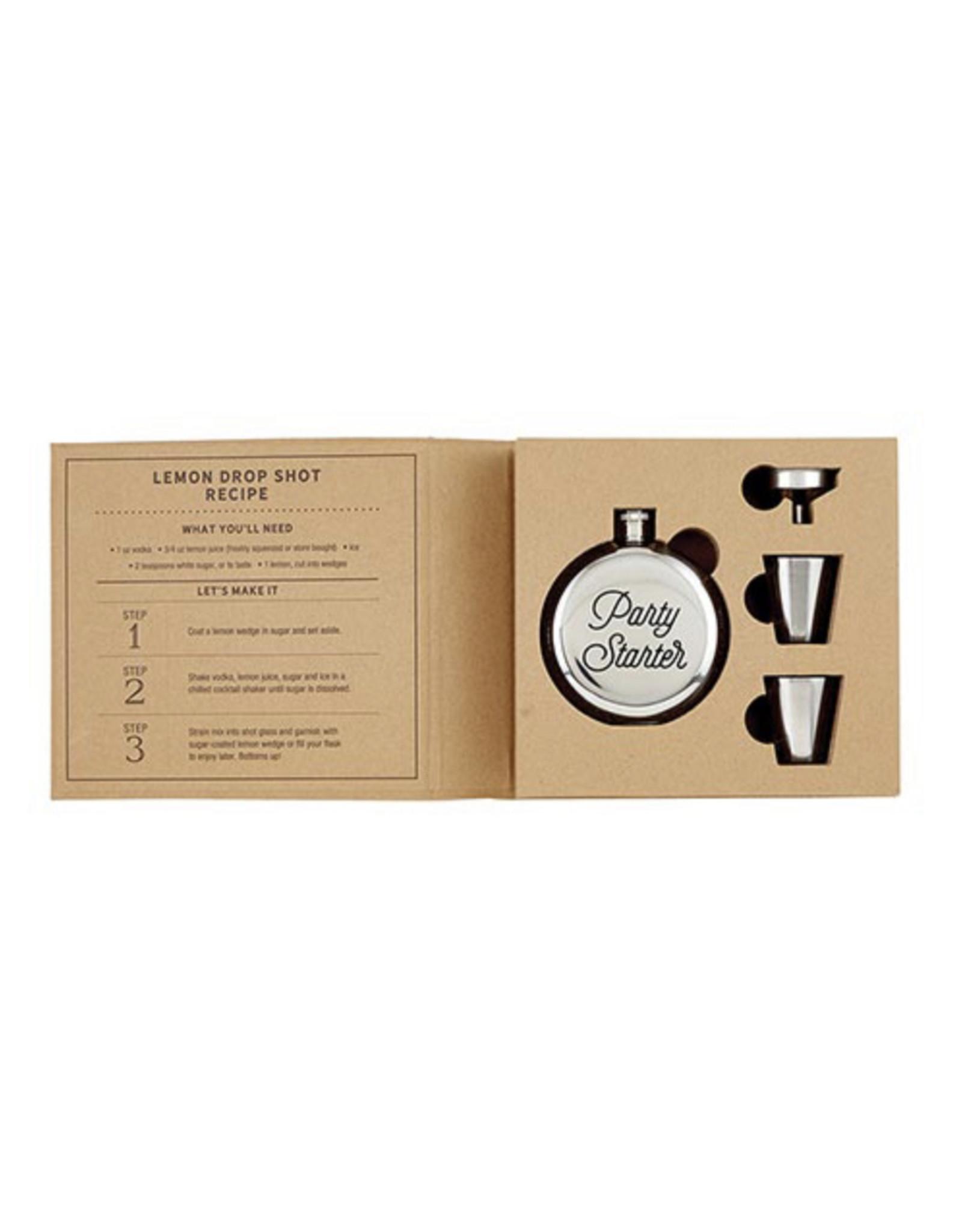 Santa barbara Cardboard Book Set-Flask