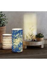 Heartfelt LED Candle, Blue FLoral