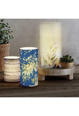 LED Candle, Blue FLoral