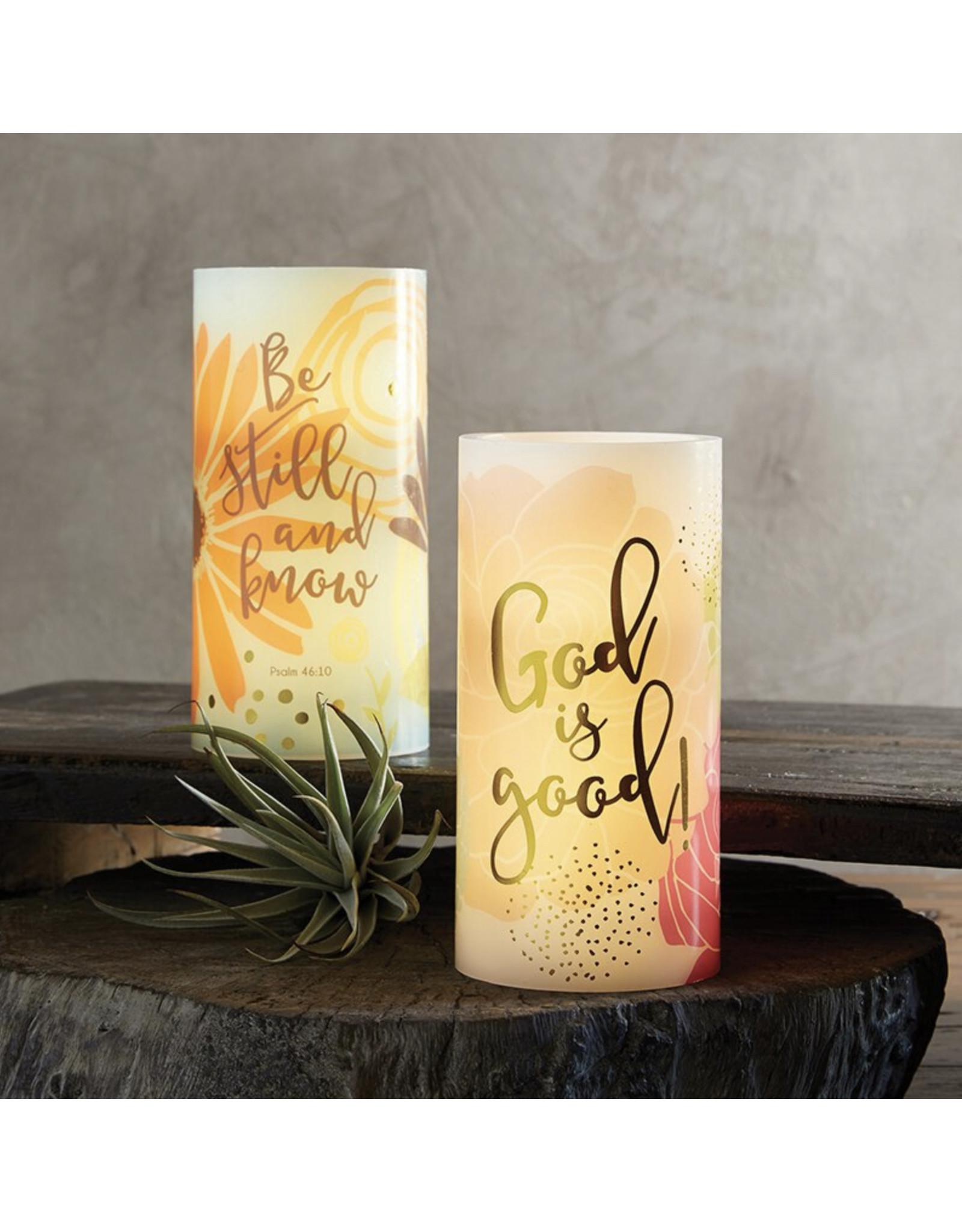 Heartfelt LED Candle, God Is Good