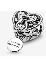 Pandora Pandora Charm,798949C00, Openwork Seahorses Heart